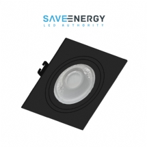 SPOT EMB QUADRADO PT PAR 20 E-27 SAVE ENERGY - 07642